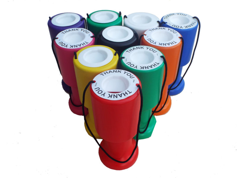 Charity boxes stock image