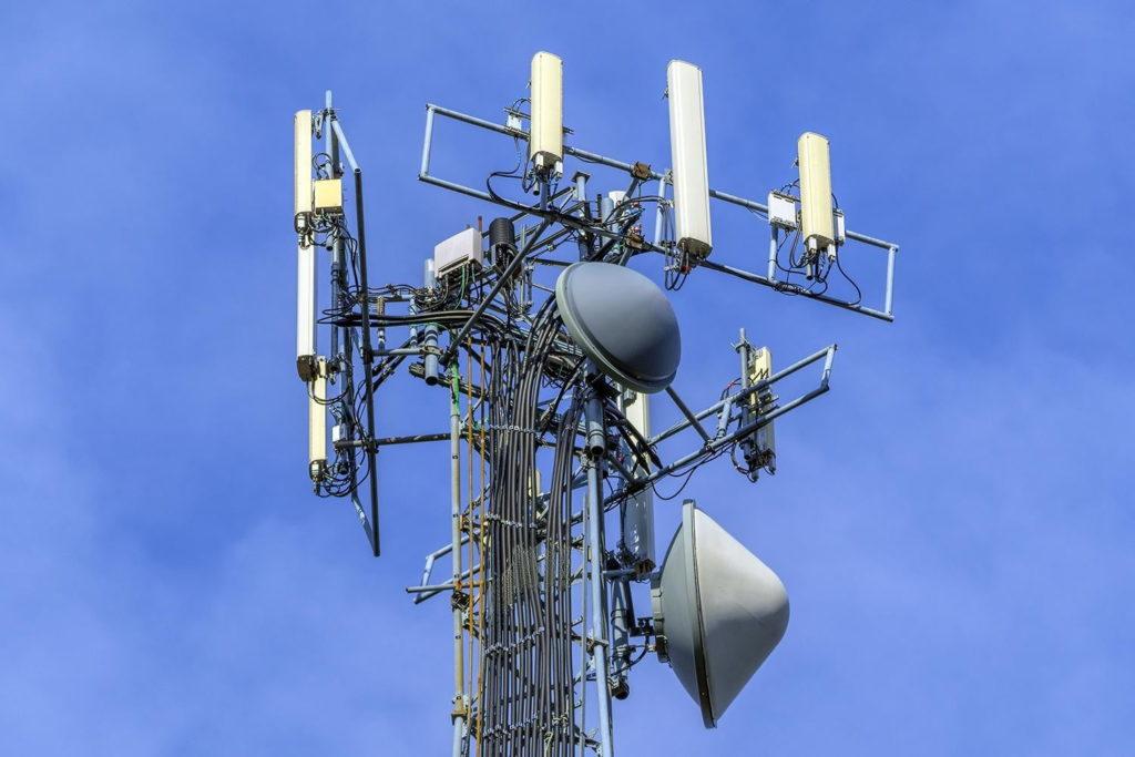 Mobile phone antenna stock image